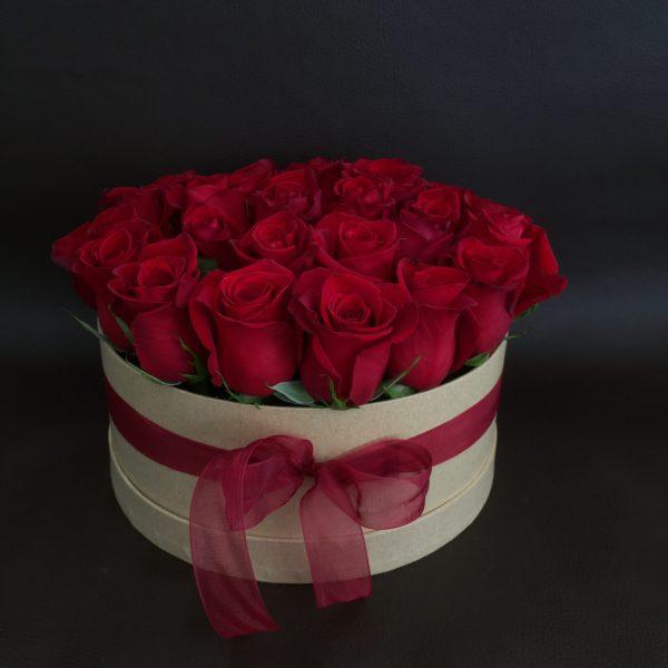 Caixa de Rosas vermelhas